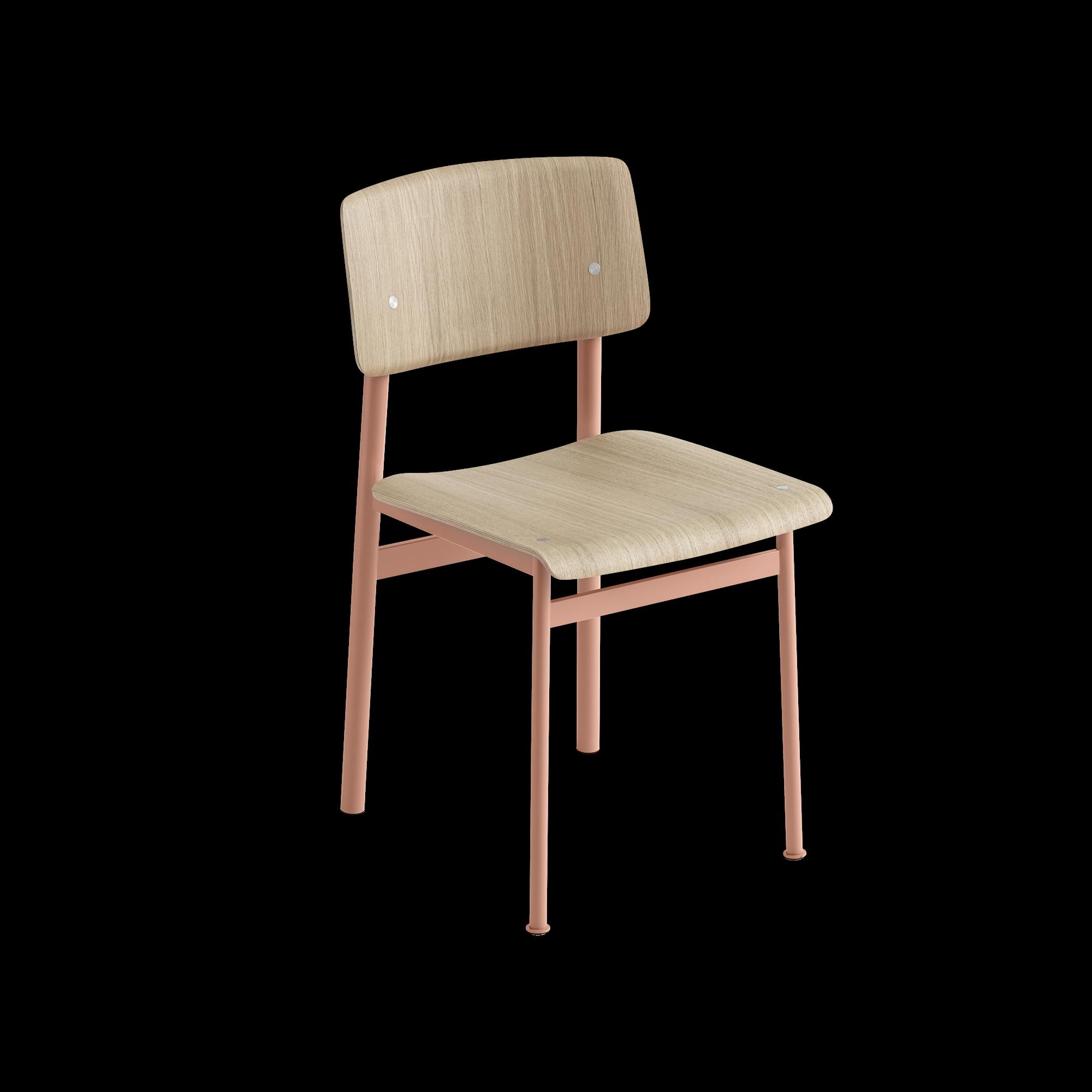 Loft chair, Dusty rose/oak