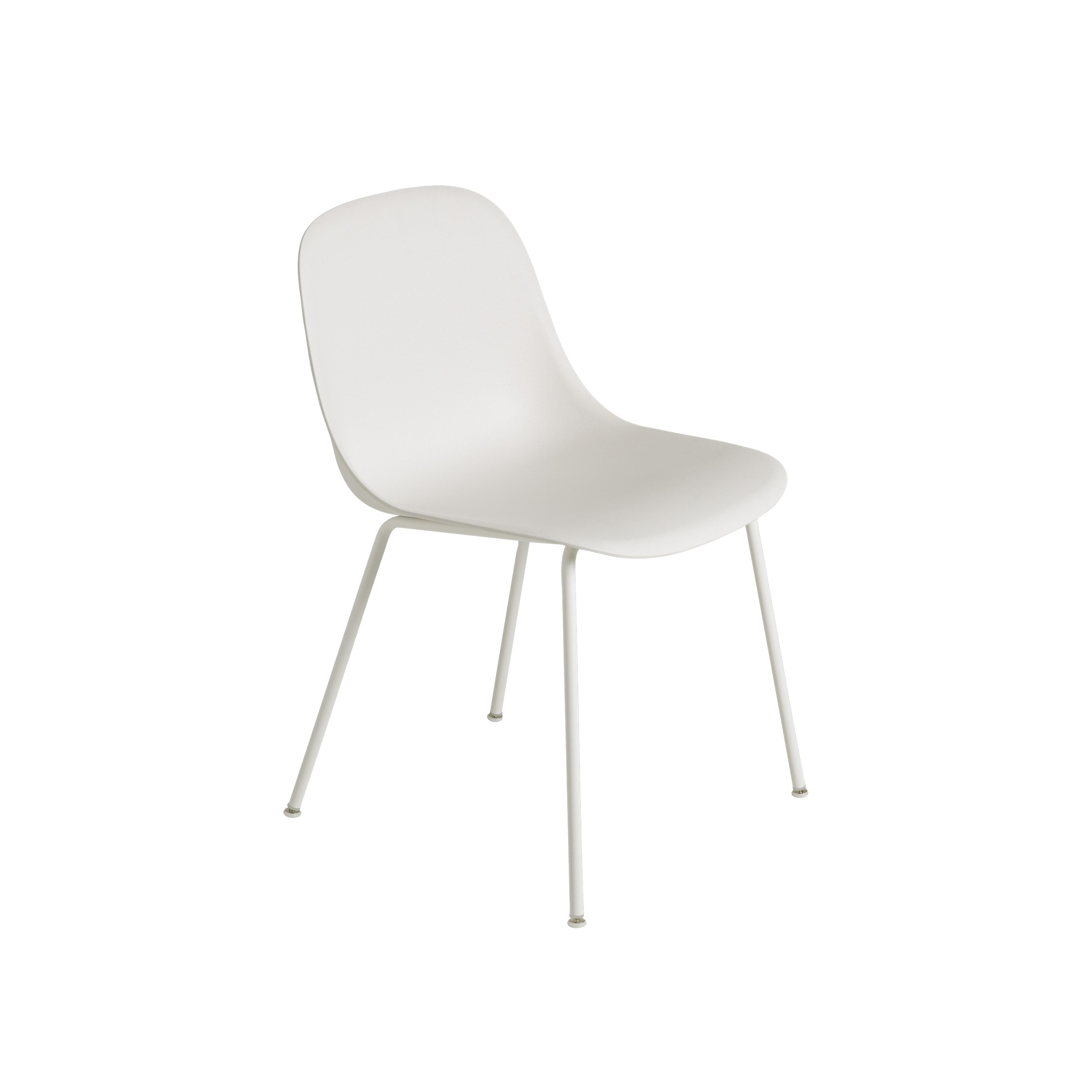 Fiber Side Chair, Tube b., White