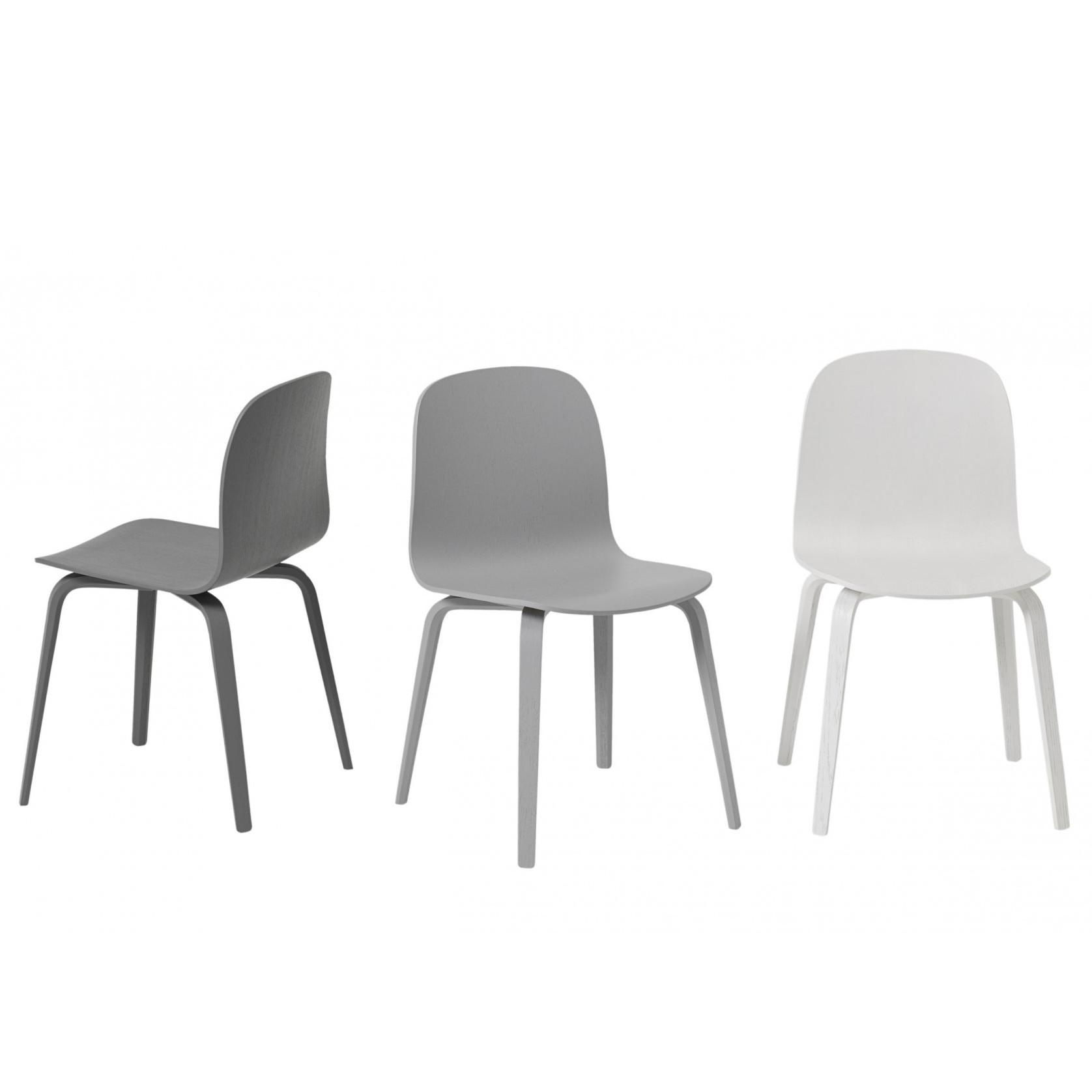 Muuto, Visu chair, Wood base, Black