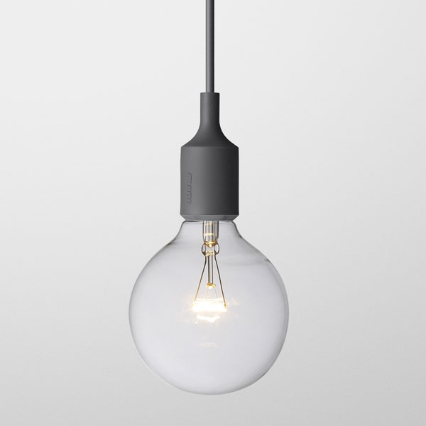 Muuto, E27 Lamp, Dark grey