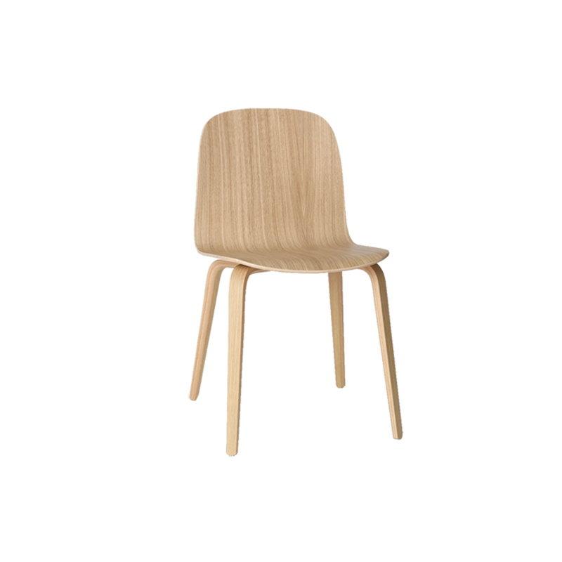 Visu chair, Wood base, Oak